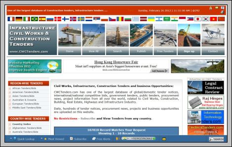 Construction Tenders websites Construction Tenders Construction